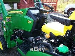 Used 4x4 John Deere 1025R Tractor Loader Backhoe Mower Diesel