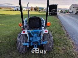 Used Ford 1220 Compact Tractor With Loader 4wd With Mower Deck 2903 Hours Clean