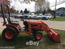 Used Kubota B2920 HSD Tractor Loader 3 Cylinder Diesel 29HP 4WD