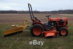 Used Kubota B7100HST 4WD Tractor with 60 Mid Mower & 3-pt New 5' Rear Blade