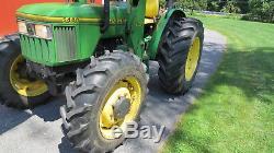 VERY CLEAN 1997 JOHN DEERE 5400 4X4 UTILITY TRACTOR With LOADER 68HP DIESEL
