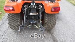 VERY NICE 2016 KUBOTA BX2670 4X4 COMPACT TRACTOR With 60 BELLY MOWER 46 HRS