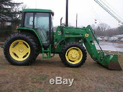 Very Nice John Deere 6210 4 X 4 Cab Loader Tractor Only 1993 Hours