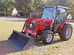 Very Nice Massey Ferguson 1635 4 X 4 Cab Loader Tractor