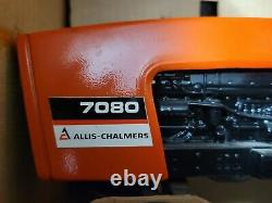 Vintage 1980 ERTL Allis-Chalmers 7080 Tractor 116 Scale With Cab and Duals NIB