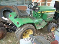 Vintage John Deere 210 with Hydraulic Lift, Small Farm Tractor 18 Discs