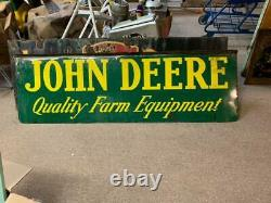 Vintage John Deere FARM Equipment Tractors Sign GAS OIL SEED FEED 72 x 23